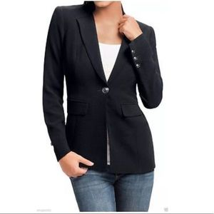 Cabi classic black fitted longline city blazer